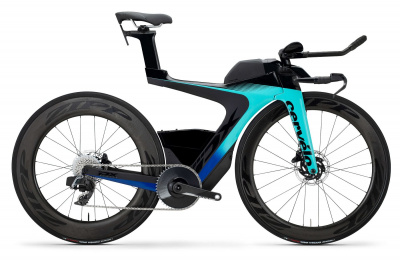 Велосипед '20 Cervelo PX-Series Disc Red eTap AXS 1 Рама:L(52cm) Light Teal/Mid Navy (637070308)